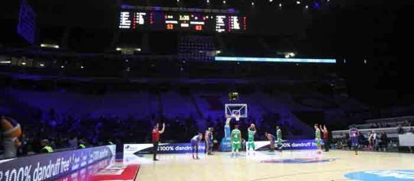 Le stade Pierre-Mauroy en configuration EuroBasket : tout est fin prêt.- Photo © PVC